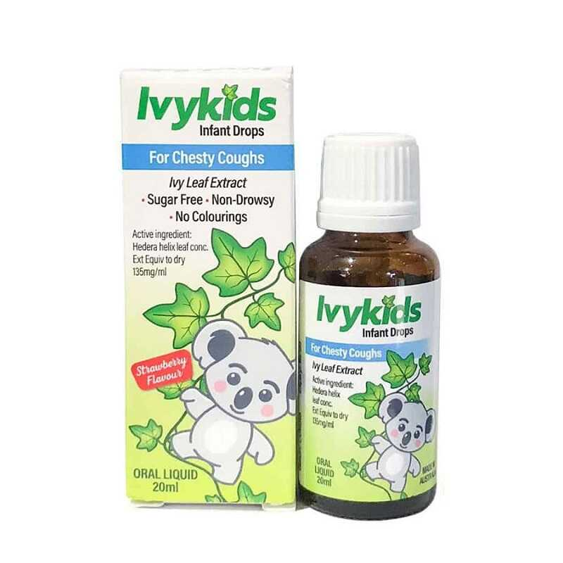 Siro Ivy kids có khả năng trị các chứng ho thông thường ở trẻ, ho khan, ho do dị ứng, thời tiết