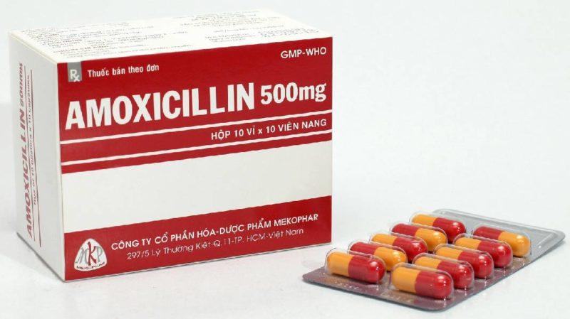 Amoxicillin là thuốc kháng sinh điều trị ho phổ biến