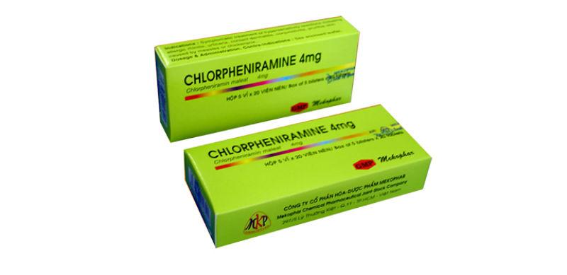 Thuốc trị mề đay mẩn ngứa cho trẻ em Chlorpheniramine