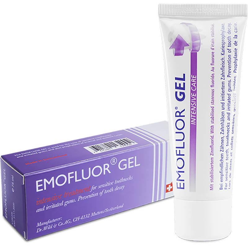 Gel trị nhiệt miệng Emofluor đặc trị mạnh chứng nhiệt miệng, mòn hở, ê buốt chân răng, viêm đau nhức lợi