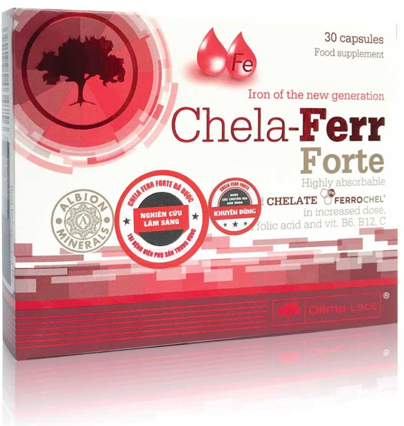 Chela Ferr Forte cung cấp 166,67 mg sắt hữu cơ IPC