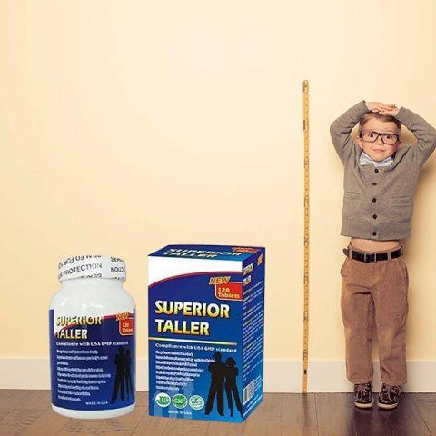 Công dụng của Superior Taller là giúp cho xương, mô sụn phát triển nhanh chóng