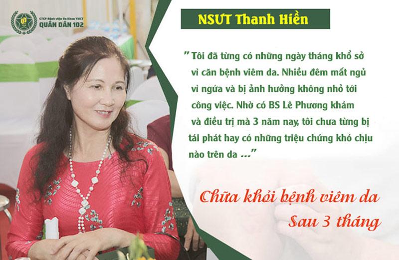Bác sĩ Lê Phương giúp NSƯT thoát khỏi căn bệnh viêm da mãn tính suốt nhiều năm