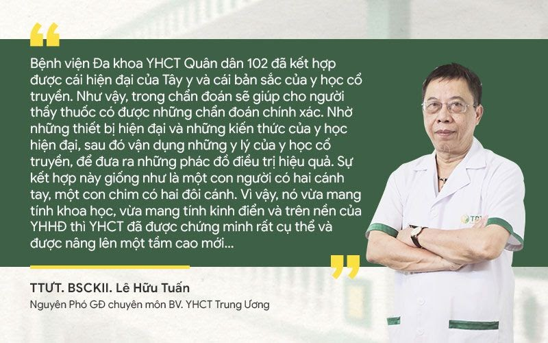 Bác sĩ Lê Hữu Tuấn nhận định về phương pháp Đông y biện chứng tại Quân Dân 102