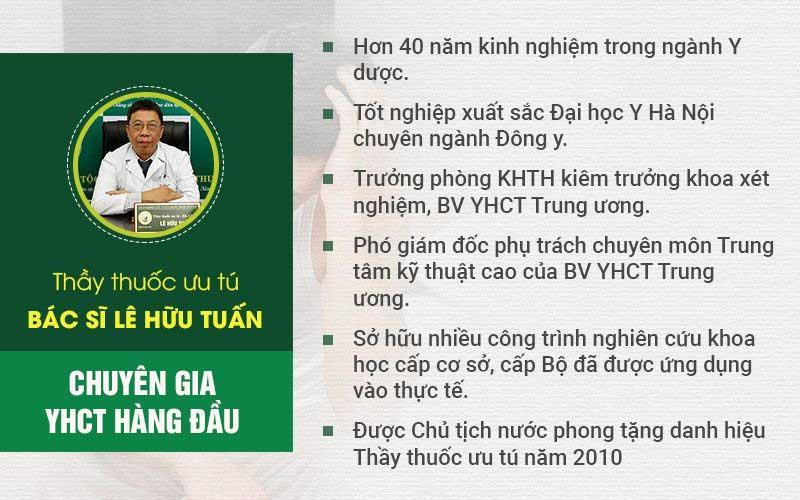 Bác sĩ Lê Hữu Tuấn với hơn 40 năm kinh nghiệm