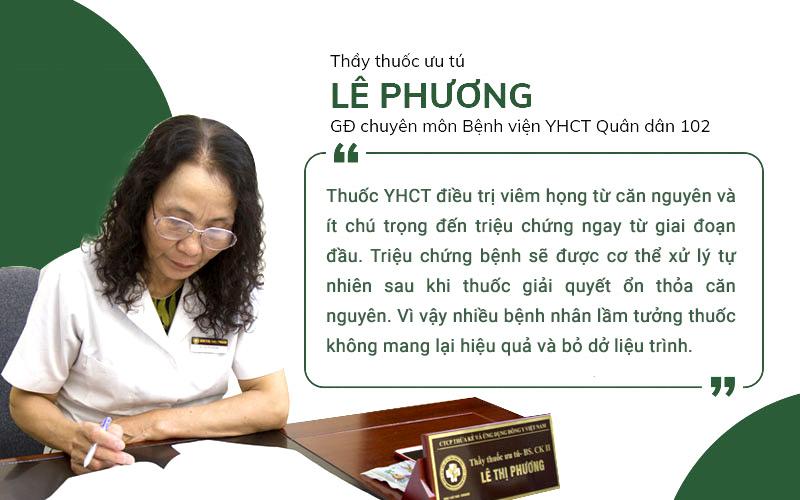 Bác sĩ Lê Phương chia sẻ về hạn chế của thuốc YHCT