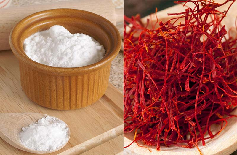 Dùng baking soda để phân biệt saffron