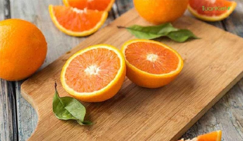 Cam rất giàu vitamin C tốt cho da nói chung