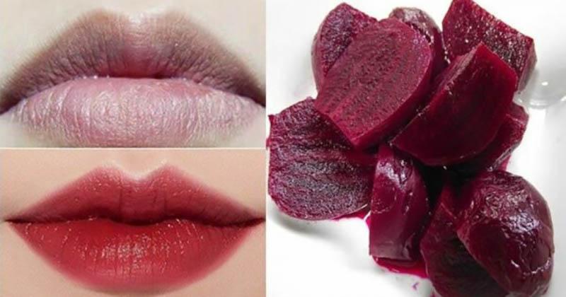 Hoạt chất Carotenoid có trong củ dền mang đến công dụng cực kỳ hữu hiệu khắc phục đôi môi thâm xỉn