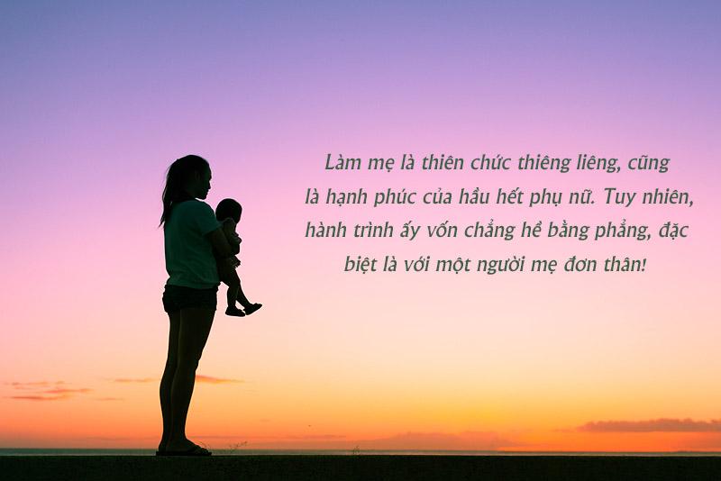 Làm mẹ đơn thân là một điều không dễ dàng, nhất là khi con ốm
