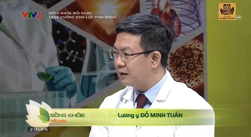 Lương y Đỗ Minh Tuấn từng giới thiệu bài thuốc Sinh lý nam Đỗ Minh trên VTV2