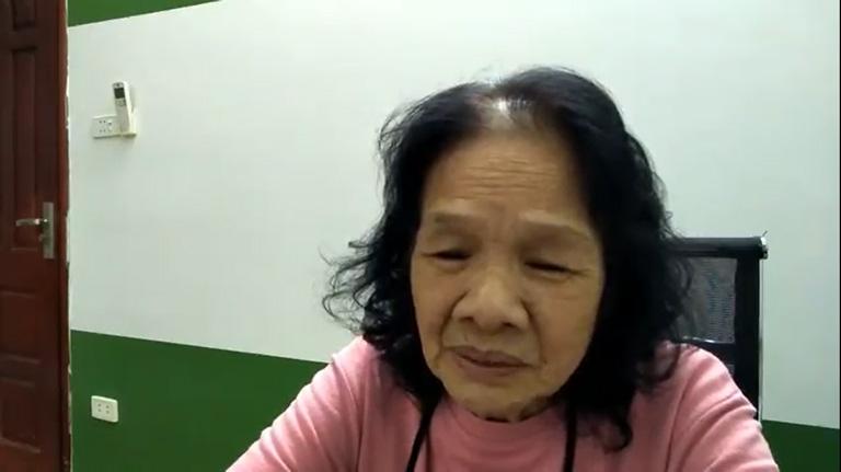 Cô Đoàn Thị Trâm điều trị căn bệnh trào ngược ở tuổi 74