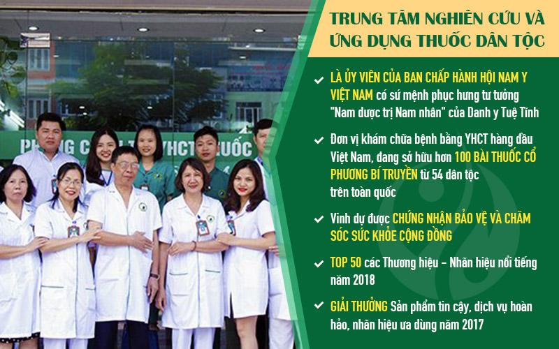 Trung tâm Thuốc dân tộc hiện là địa chỉ chữa xuất tinh sớm ở Hà Nội uy tín