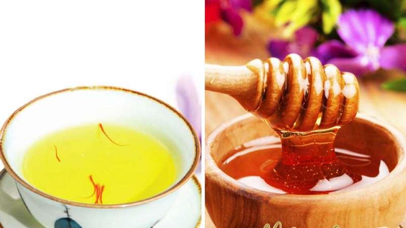 Trà saffron kết hợp cùng mật ong