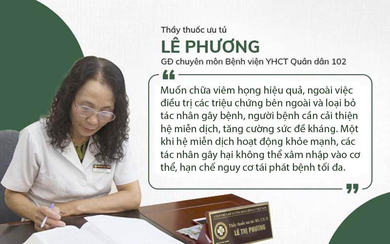 Bác sĩ Lê Phương chia sẻ nguyên tắc điều trị viêm họng hiệu quả