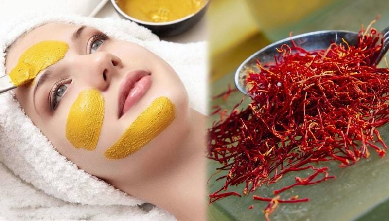 Mặt nạ nhuỵ hoa nghệ tây sẽ giúp làn da trở nên sáng mịn, hồng hào