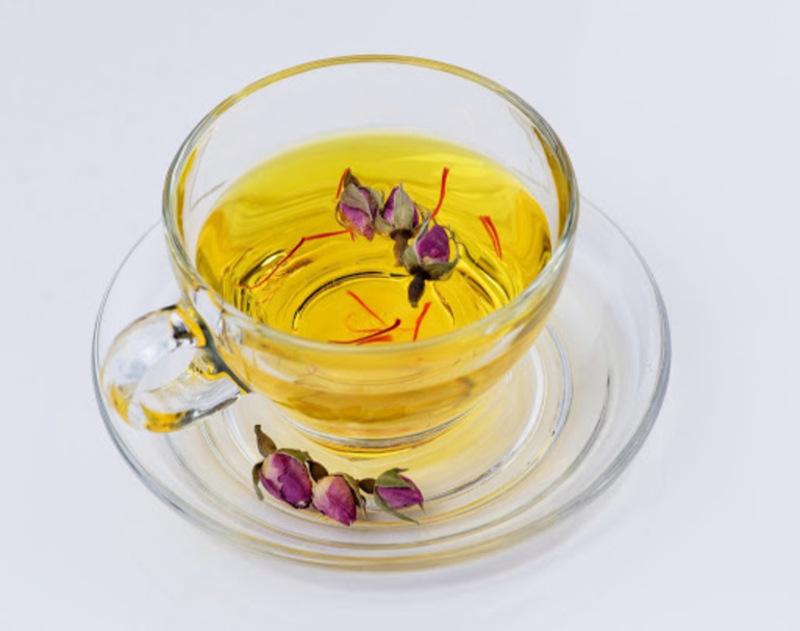 Trà nhụy hoa nghệ tây có mùi thơm đặc trưng