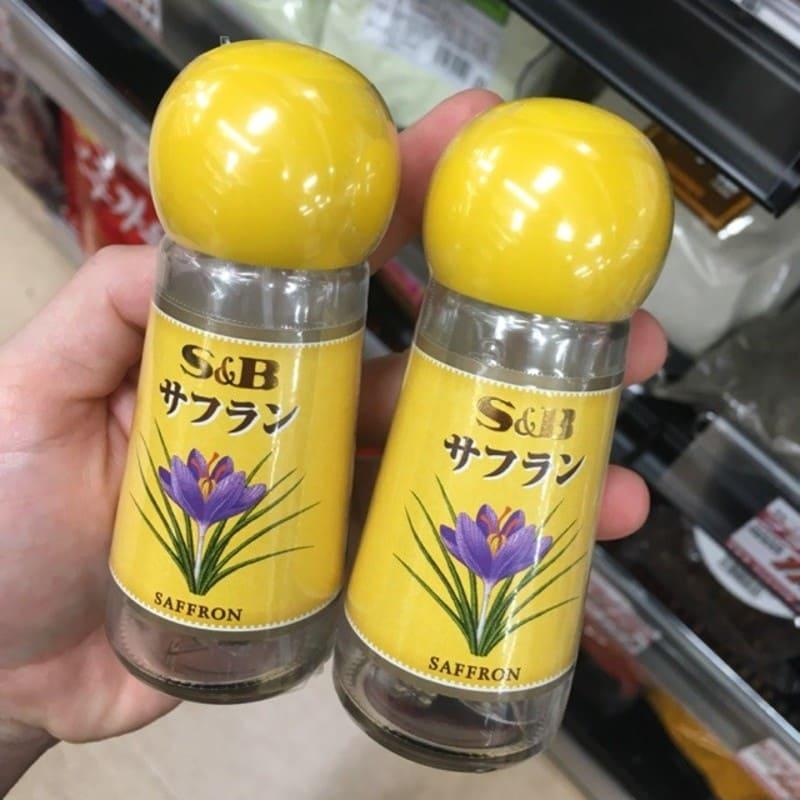 Bao bì sản phẩm nhụy hoa nghệ tây S&B