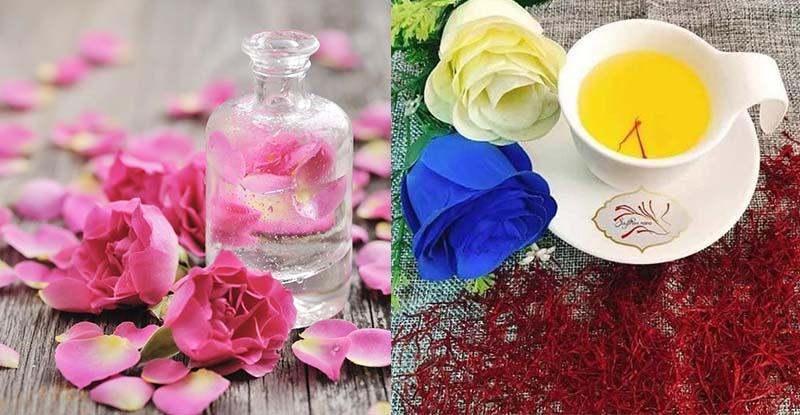 Mặt nạ hoa nhụy tây và nước hoa hồng giúp trị mụn hiệu quả
