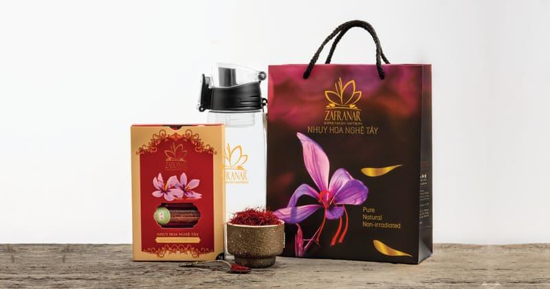 Nhụy hoa nghệ tây Zafranar có chứa các sợi Saffron Iran loại 1
