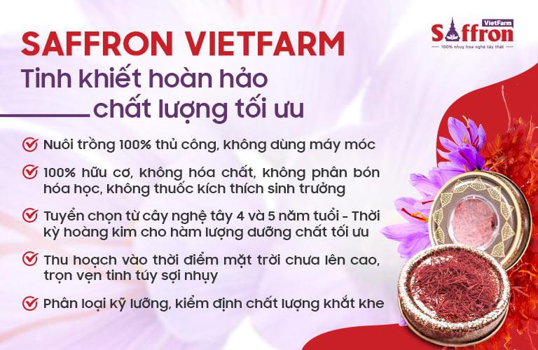 Saffron Vietfarm sở hữu những ưu điểm vượt trội