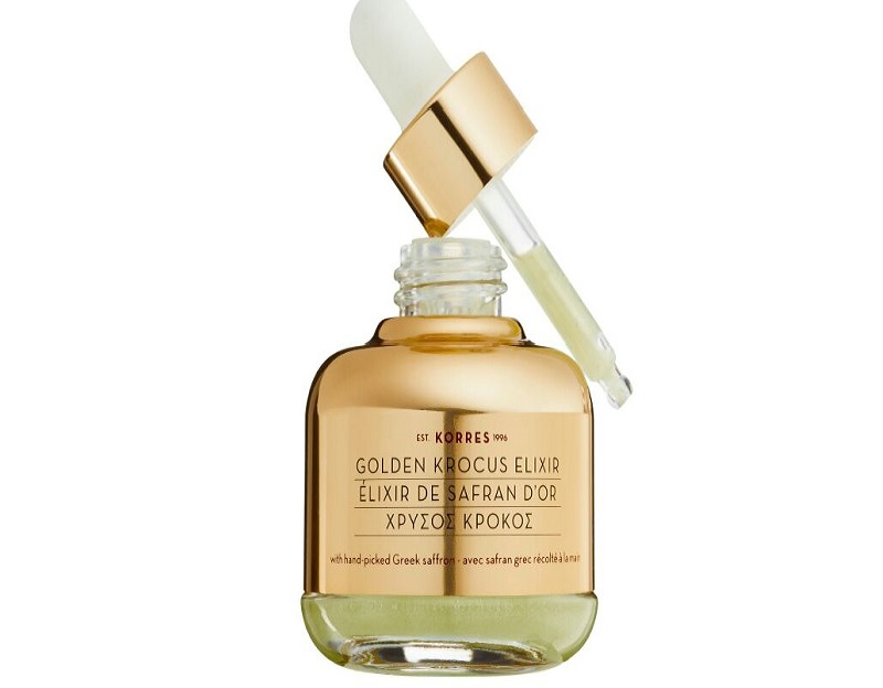Golden Krocus Saffron Serum Elixir - sản phẩm dưỡng da độc đáo, an toàn đến từ thương hiệu đình đám Korres