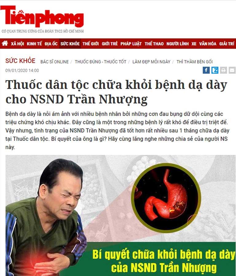 Sơ can Bình vị tán được nhắc đến trên báo Tiền Phong