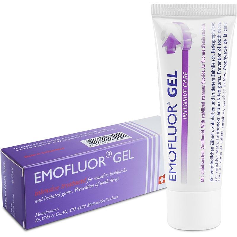 Emofluor Gel là dược phẩm của Thụy Sĩ và đã được cấp phép lưu hành ở nhiều quốc gia trên thế giới