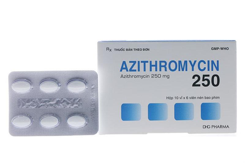 Azithromycin là kháng sinh trị viêm lợi thuộc nhóm macrolid