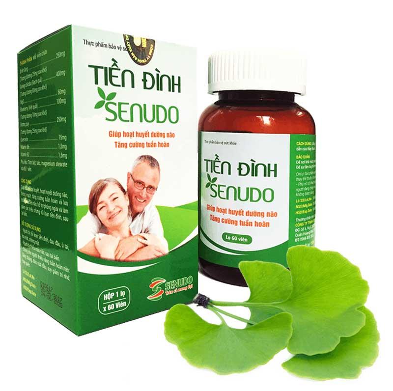 Tiền Đình Senudo được chiết xuất từ những thảo dược quen thuộc như: Đinh lăng, đương quy, việt quất,…