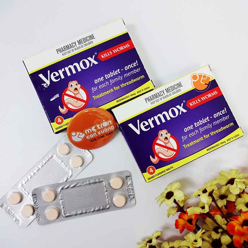 Khi dùng Vermox, giun sán sẽ bị tiêu diệt một cách tự nhiên rồi bị đào thải ra ngoài