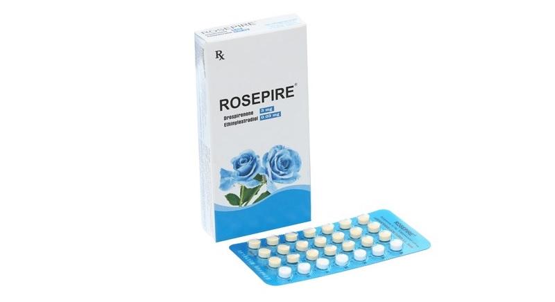 Rosepire là loại thuốc tránh thai hằng ngày thuộc nhóm thuốc Hormon nội tiết tố