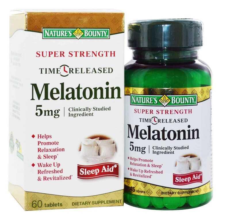 Thuốc trị mất ngủ Super strength melatonin của Mỹ