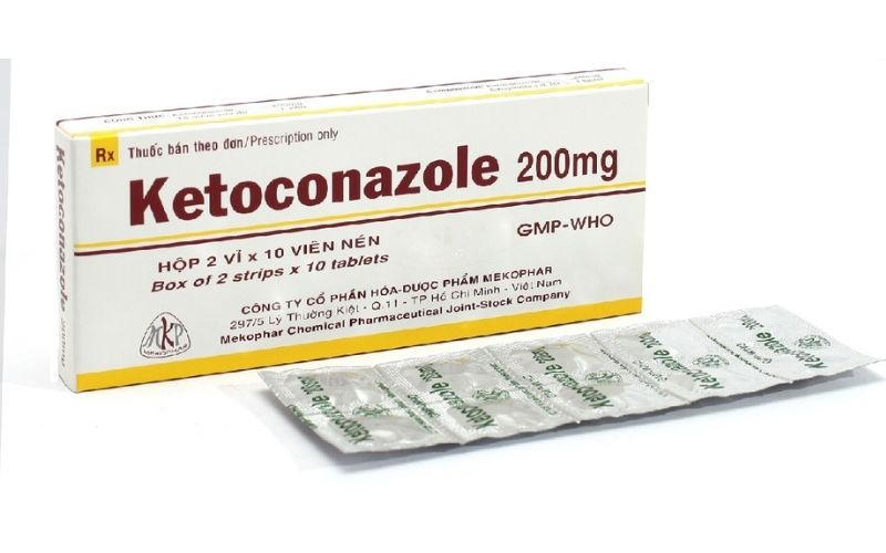 Viên uống trị nấm da Ketoconazol 200mg