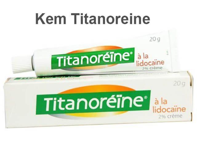 Thuốc trị trĩ ngoại titanoreine chứa hai thành phần chính là Lidocaine và Zinc oxide