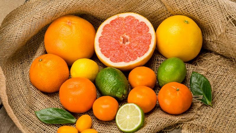 Các loại quả họ cam quýt có chứa vitamin C tốt cho người trị bệnh tràn dịch khớp gối