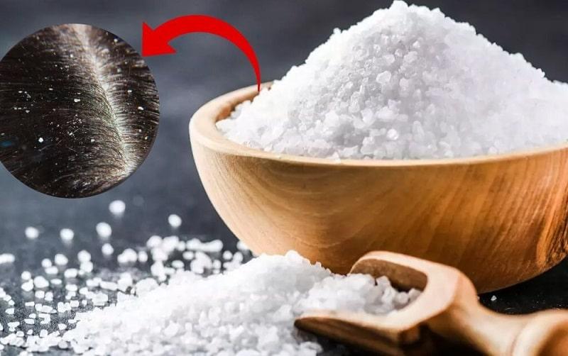 Muối trắng giúp sát khuẩn da, tẩy tế bào chết