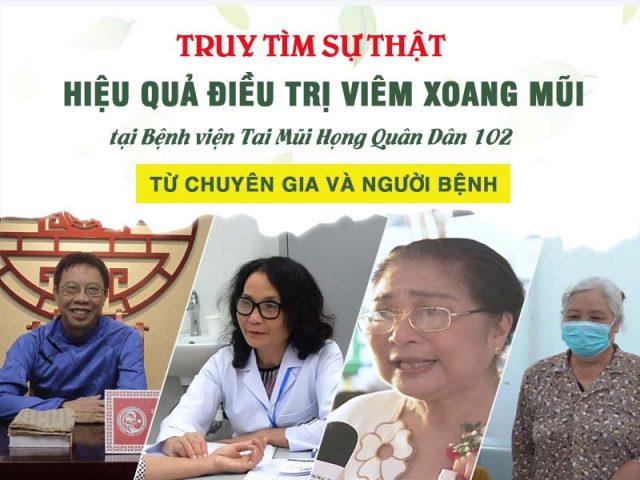 [TRUY TÌM] Sự thật về hiệu quả điều trị viêm xoang mũi tại Bệnh viện Tai mũi họng Quân Dân 102