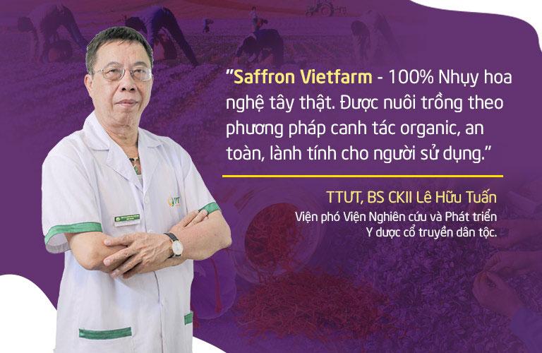 Chuyên gia đánh giá về chất lượng Saffron Vietfarm