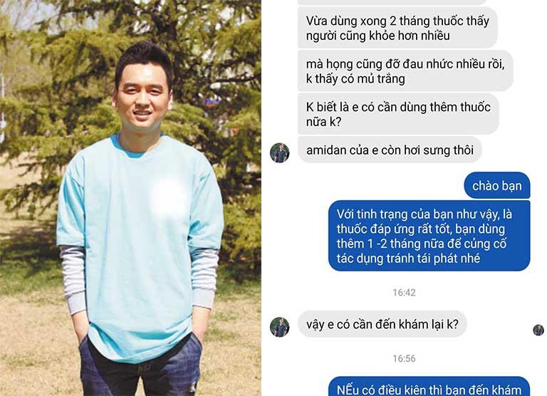 Anh Nguyễn Nam feedback về bài thuốc Thanh hầu bổ phế thang