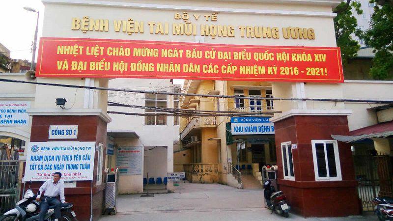 Viện Tai Mũi Họng là một trong những nơi chữa ho hiệu quả.