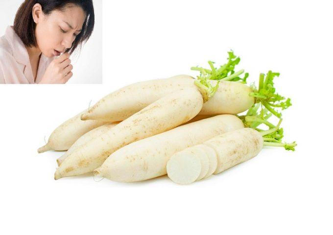 Trị ho bằng củ cải trắng có thể thực hiện nhiều cách khác nhau