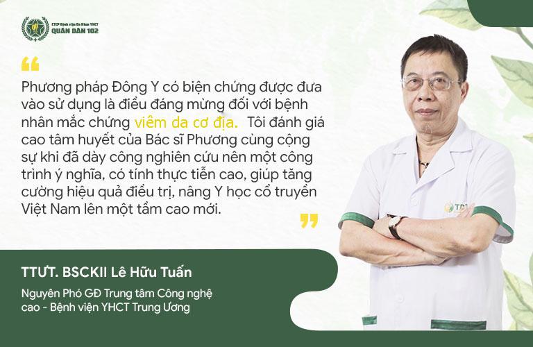 Bác sĩ Lê Hữu Tuấn đánh giá phương pháp chữa viêm da cơ địa