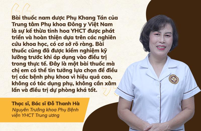 Bác sĩ Đỗ Thanh Hà nhận định về bài thuốc Phụ Khang Tán