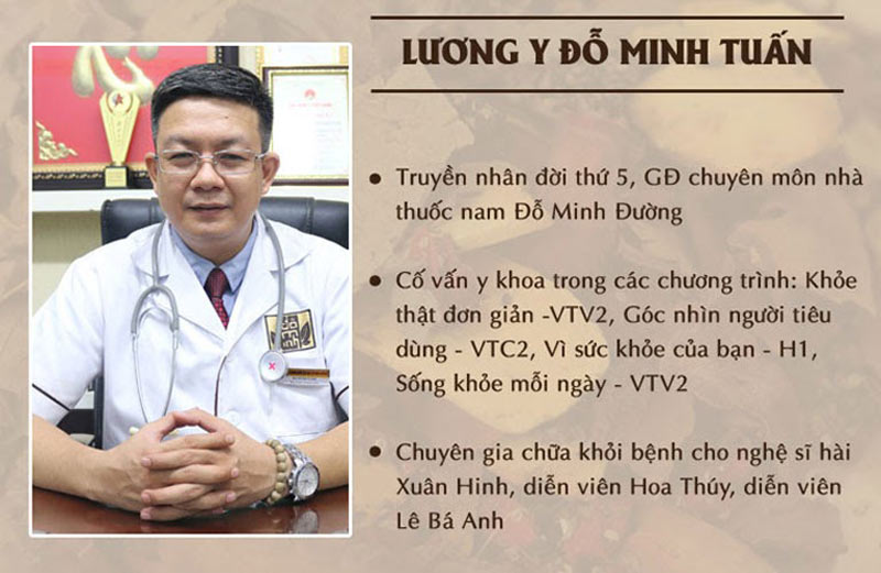 Lương y Đỗ Minh Tuấn - GĐ chuyên môn nhà thuốc nam Đỗ Minh Đường