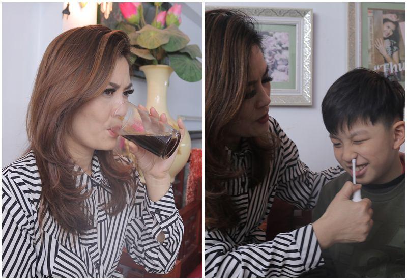Cả DV Hoa Thúy và con trai đều sử dụng bài thuốc viêm xoang Đỗ Minh