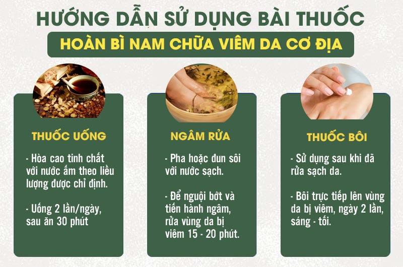 Cách sử dụng các chế phẩm uống, bôi, ngâm rửa chữa viêm da cơ địa