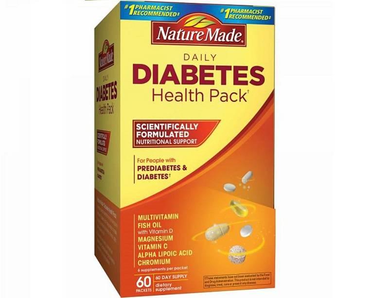 Thuốc trị tiểu đường của Mỹ Nature Made Diabetes Health Pack