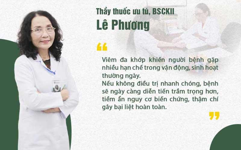 Bác sĩ Lê Phương và bệnh viêm đa khớp