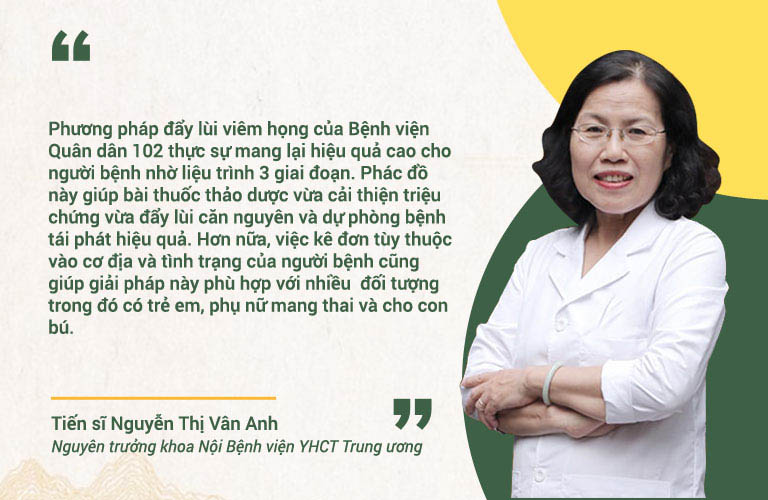 Bác sĩ Vân Anh nhận định phương pháp chữa viêm họng Quân dân 102